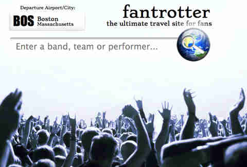 Fantrotter search page