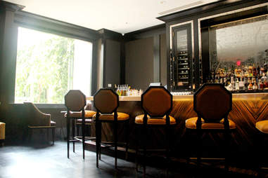 The bar room at the Library Bar at the Rittenhouse Hotel