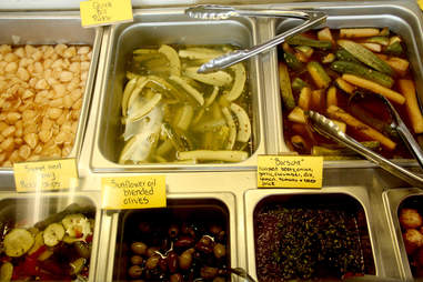 The pickle bar at Farmer's Road Drive Thru at Chadds Ford