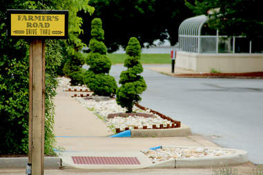 The Drive Thru entrance at Farmer's Road Drive Thru in Chadds Ford.