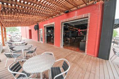 The patio at Full Circle Tavern