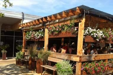 The patio at Goodfriend Beer Garden & Burger Bar