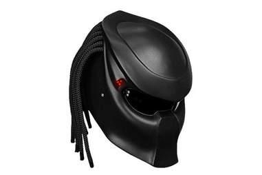 A Predator helmet for scaring Carl Weathers