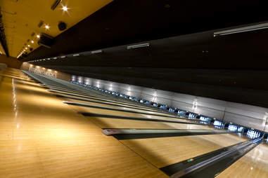 Brunswick's interior bowling lanes