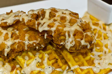 Brunswick's - Fried chicken and bacon waffles