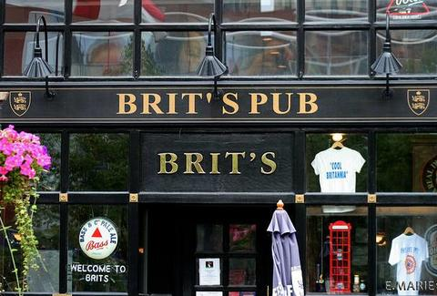 The front of Brit's Pub