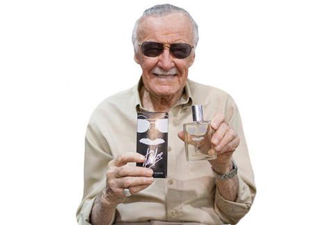 stan lee with cologne