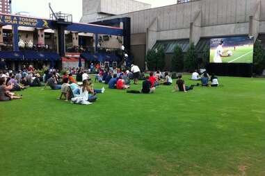 The back lawn at Brit's Pub