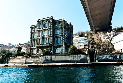 Turkish Mansion Under Bridge Waterside