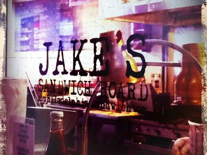 Jakes Sandwich Board Exterior Window Sign