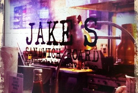 Jakes Sandwich Board Exterior Window Sign