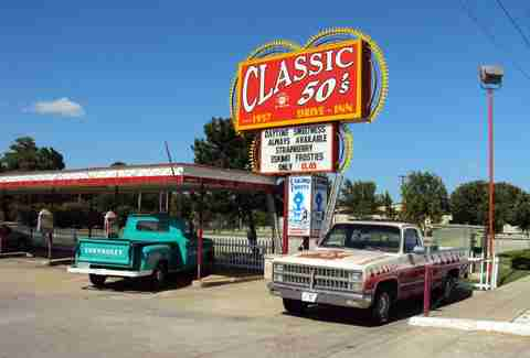 Parking at Classic 50's