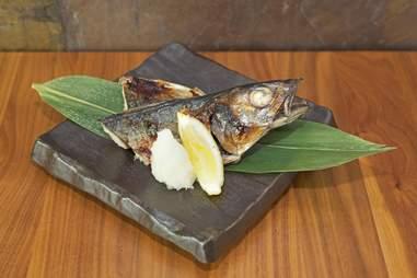 whole grilled Spanish Mackerel at Izakaya Den