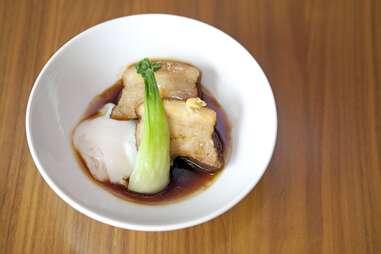 Japanese style pork belly at Izakaya Den