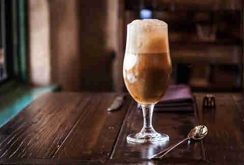 Beer Float at Stone Brewing World Bistro & Gardens - Liberty Station in San Diego.