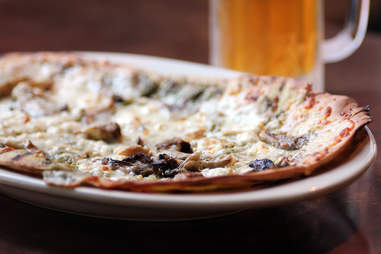 Roasted garlic and clam flatbread at Society on High