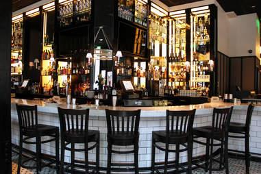 The bar at Society on High