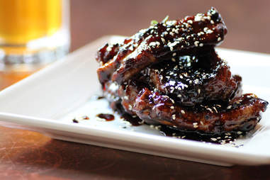 Candied spare ribs at Society on High