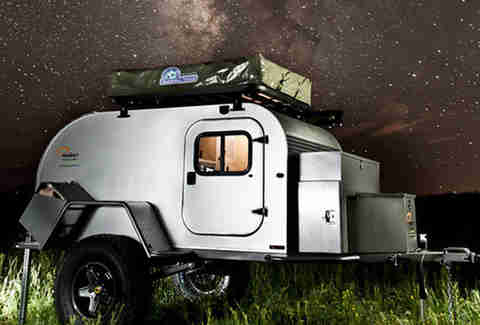Exterior of Moby 1 Expedition Trailer