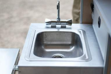Kitchen sink of Moby 1 Expedition Trailer