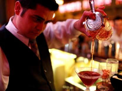 The Flatiron Room-NYC-Pouring Cocktails