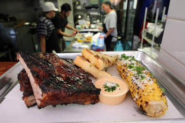 St. Louis style ribs at Smalls BBQ in Irving Park