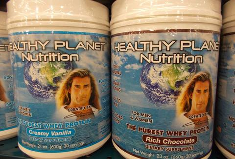 Fabio's latest line of whey protein powders