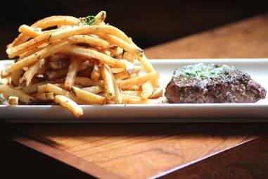 Grass Run Farms Steak Frites at Bluestem Bar & Table in Minneapolis.