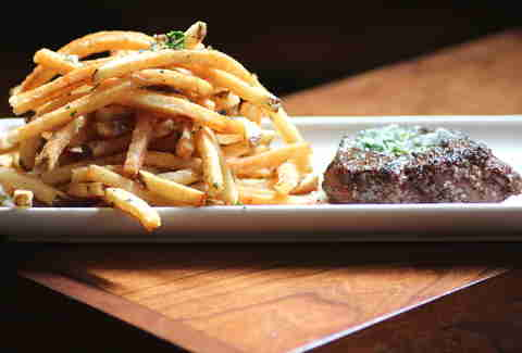 Grass Run Farms Steak Frites at Bluestem Bar & Table in Minneapolis.