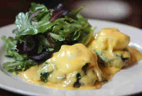 Crab Cake Benedict at Bluestem Bar & Table in Minneapolis