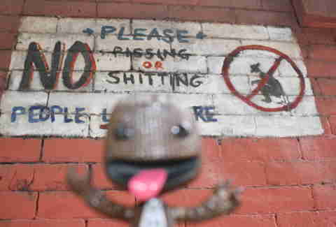 Sackboy in Soho