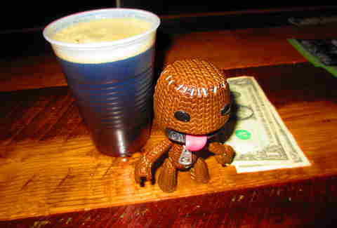 Sackboy tips well