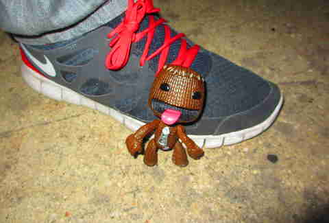 Sackboy on floor
