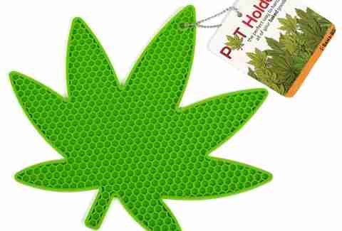 marijuana leaf pot holder