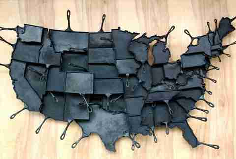 state shaped frying pans