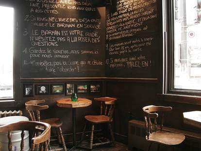Montreal, bar, La Distillerie, big drinks, mason jar drinks, chalboard specials