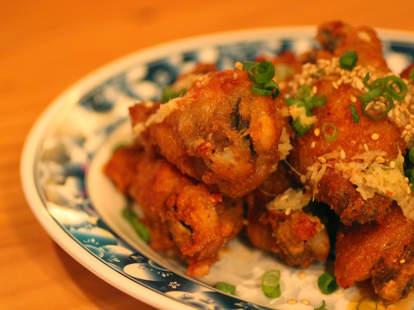 Garlic ginger chicken wings at Yuboka at Revel