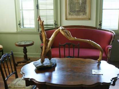 Art on display inside of the French Legation Museum