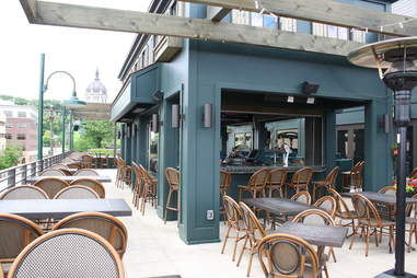 The rooftop bar at Louis Ristorante