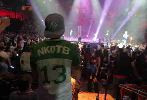 NKOTB/Boyz II Men Package Tour -- Kid In NKOTB Shirt