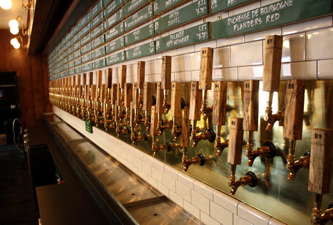 A long line of taps