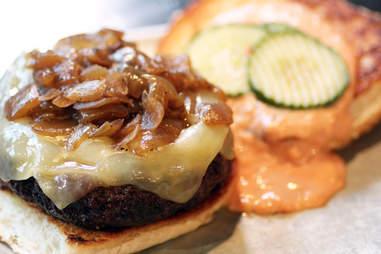 Burger at JM Curley