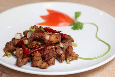 Tony's three chili chicken at Lao 18 in River North