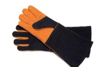 Suede barbecue gloves