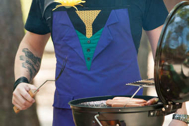 A Grillin' Villain Joker apron