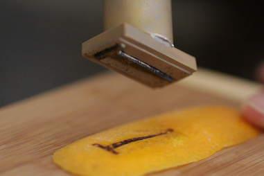 Orange peel rusty nail