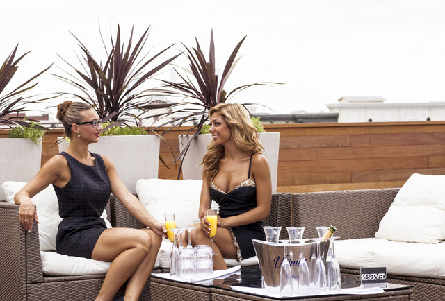 Thrillist kicks it with the bikini babes of 6th St\'s first rooftop pool