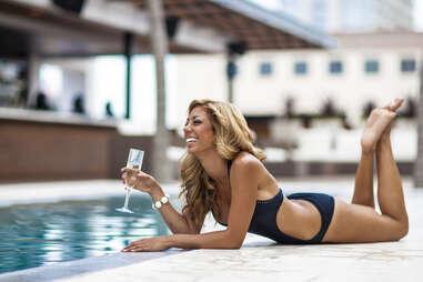 Rio Rooftop pool waitress