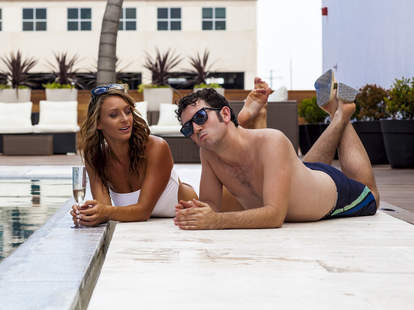 Rio Rooftop babe and Dan Gentile