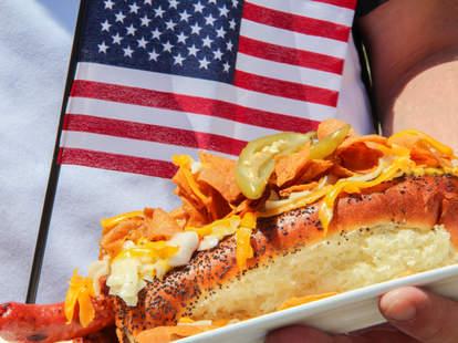 Brian Luscher's hot dog